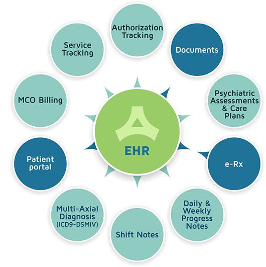 Behavioral Health EHR Diagram