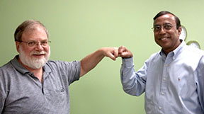 fist-bump to prevent transfer of infectious disease