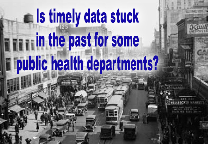 Timely data is difficult to obtain for urban (and rural) public health departments