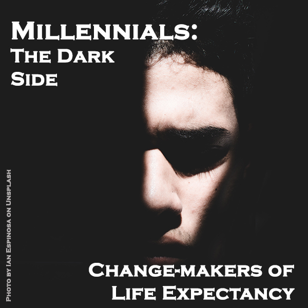 Millennials' Dark Side: Change-makers of Life Expectancy