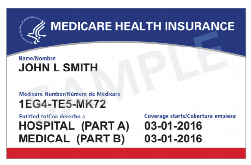Example of the new Medicare patient identifier cards.