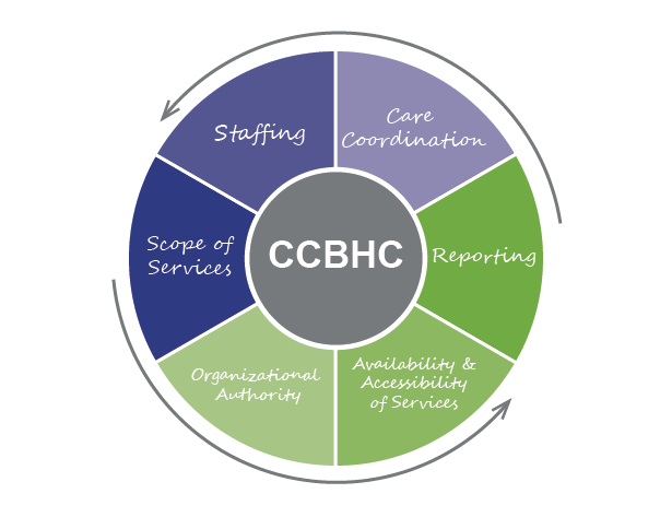 SAMHSA has 6 program requirements to become a CCBHC