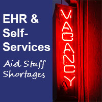 alleviate staffing shortages with patient self services