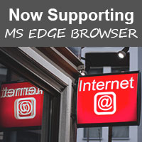 Now supporting MS edge browser